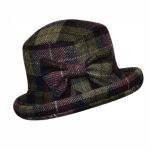 Ladies 'bow' Hat in Harris Tweed