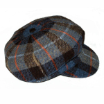 Ladies 'baker boy' cap in Harris Tweed